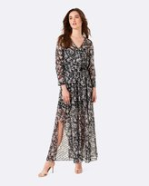 Forever New Isabella Wrap Front Maxi Dress