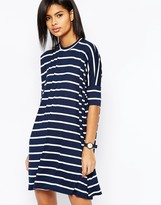 Asos T-Shirt Dress In Stripe