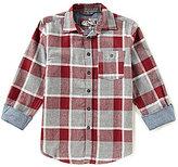 First Wave Big Boys 8-20 Plaid Long-Sleeve Button-Down Shirt