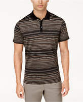 Alfani Men's Pixelated Chevron Polo, Created for Macy's