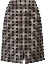 Sonia Rykiel plaid pattern straight skirt - women - Polyamide/Virgin Wool - 38