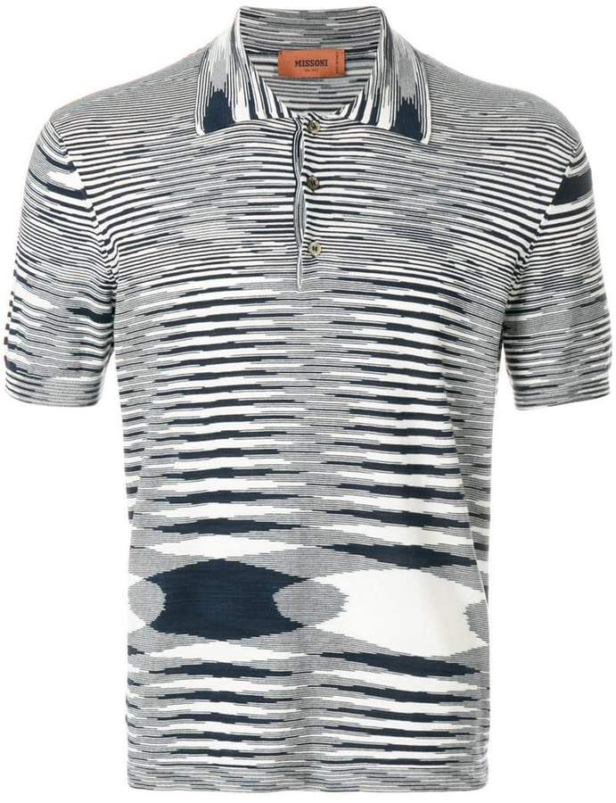 Missoni patterned polo shirt