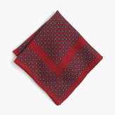 J.Crew English wool pocket square in foulard