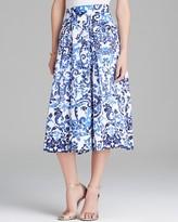 MILLY Midi Skirt - Delft Print Katie