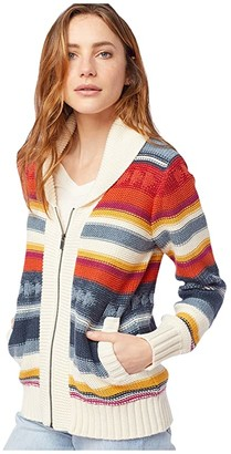 Pendleton Campfire Zip Cardigan (Indigo Multi) Women's Clothing
