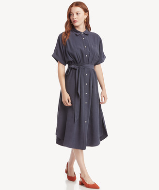 Sole Society The Good Jane Women's Karen Shirt Dress In Color: Navy Size XS From