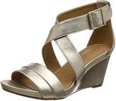 Clarks Acina Newport - Metallic (Leather) Womens Sandals 8.5 US