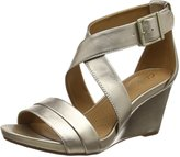 Clarks Acina Newport - Metallic (Leather) Womens Sandals 9.5 US