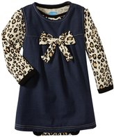 Bon Bebe Leopard Print Bodysuit Set (Baby)-Multicolor-18 Months