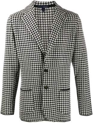 Lardini houndstooth print knit blazer