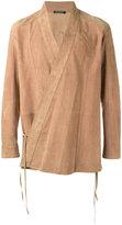 Balmain wrap jacket - men - Lamb Skin - 40
