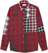 Soulland Red Button Down Patchwork Shirt