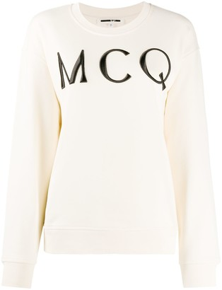 McQ Swallow Embroidered Logo Sweater