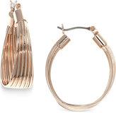 Nine West Rose Gold-Tone Wide Hoop Earrings