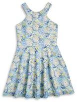 Sally Miller Girls Textured Floral Dress