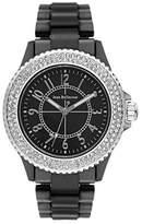 Jean Bellecour Jean redh50 Bellecour – Pearl – Ladies Watch – Analogue Quartz – Black Dial – Black Plastic Strap