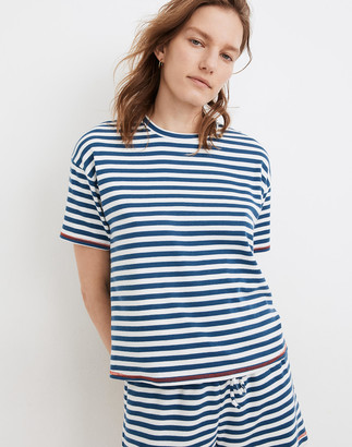 Madewell MWL Breeze Crewneck Boxy Tee in Stripe