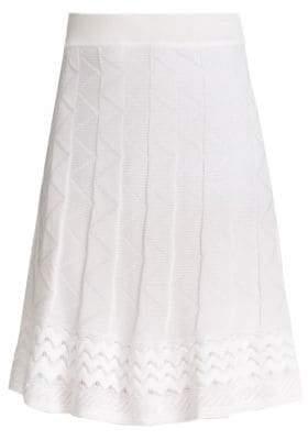 M Missoni Women's Patterned Knit A-line Skirt - Black - Size 42 (6)