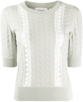 See by Chloe jersey lace knitted top