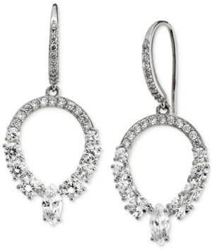 Eliot Danori Silver-Plated Cubic Zirconia Open Drop Earrings, Created for Macy's