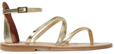 K Jacques St Tropez Epicure Metallic-leather Sandals - Gold