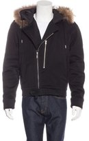 Sandro Fur-Trimmed Hooded Jacket