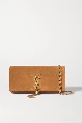 Saint Laurent Kate Suede Shoulder Bag - Brown