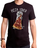 Goodie Two Sleeves Black Cat 'Pizza Lover' Tee - Men's Regular