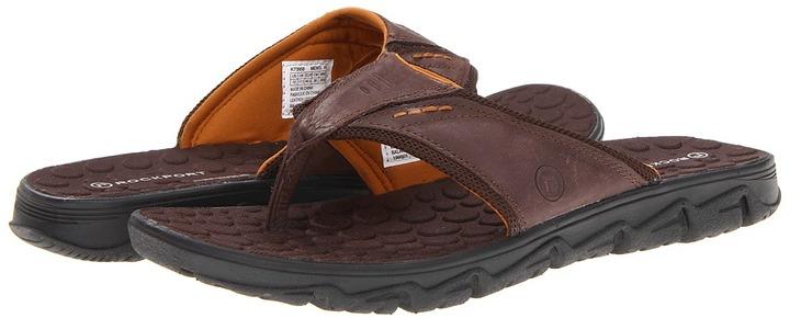 Rockport Rocsports Lite Summer Thong (Dark Brown) - Footwear