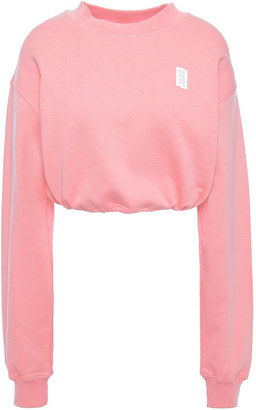 Les Girls Les Boys Cropped French Cotton-terry Sweatshirt