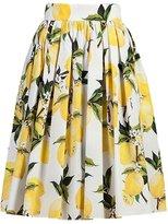 Tecrio Retro 50s 60s Floral Flare Rockabilly Spring Garden Picnic Swing Skirt L