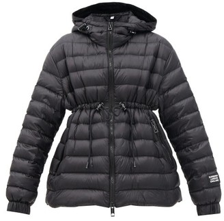 Burberry Staithes Drawstring-waist Quilted Hooded Jacket - Black