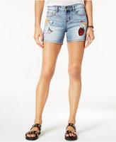 Indigo Rein Juniors' Patched Denim Shorts