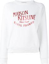 MAISON KITSUNÉ brand print sweatshirt