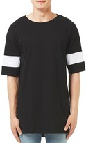 Topman Men's Longline Panel T-Shirt
