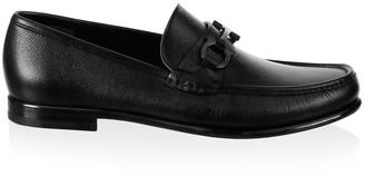 Salvatore Ferragamo Crown Gancini Bit Leather Loafers