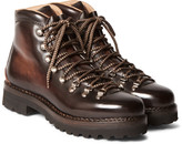 Ralph Lauren Purple Label - Fidel Ii Burnished-leather Boots