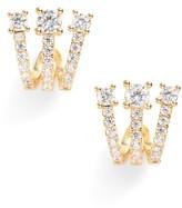 Melinda Maria Women's Katherine Crystal Huggie Earrings