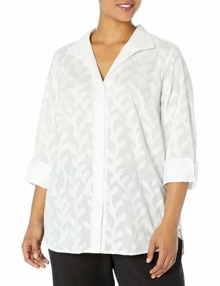 Foxcroft Women's Pandora Palm Jacquard Tunic