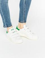 adidas Faux Snake White Velcro Stan Smith Sneakers