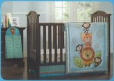 Kids Line Jungle Friends Crib Set - 4 Pc by