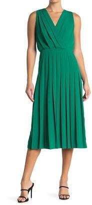 Reiss Mariona Pleated Midi Dress