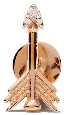 Kismet by Milka 14kt Rose Gold Arrow Piercing Diamond Stud Earring