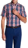 Brooks Brothers Plaid Broadcloth Short Sleeve Slim Fit Shirt