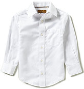 Class Club Gold Label Little Boys 2T-7 Long-Sleeve Herringbone Shirt