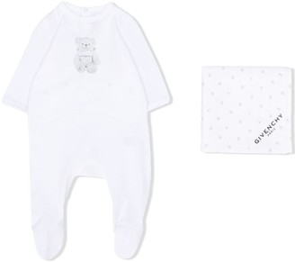 Givenchy Kids Logo Bear Print Pajamas