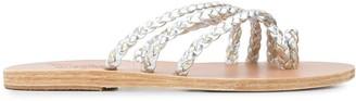 Ancient Greek Sandals Amalia rope flat sandals