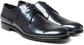 Dolce & Gabbana - Metallic Patent-leather Derby Shoes
