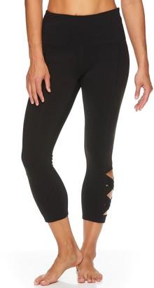 Gaiam Women's Om High-Waisted Lotus Capri Leggings