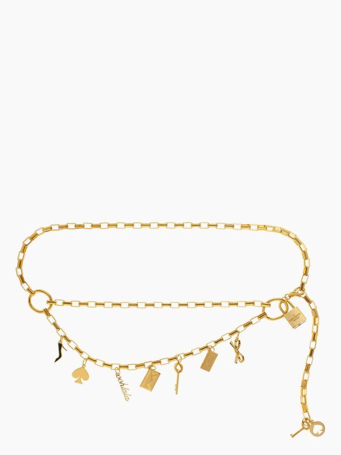 Kate Spade Gold chain charm belt